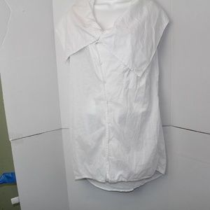 Laugh Cry Repeat by azfn blouse sz XS white